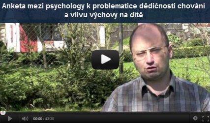 Ilustrační obrázek Videorozhovor Anketa mezi psychology - jak dalece je možné změnit charakter dítěte výchovou?